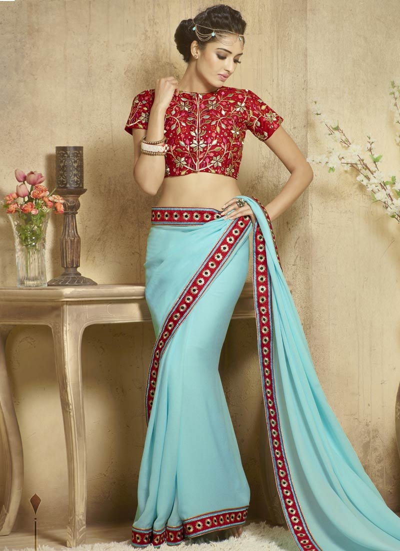 Delightsome Fancy Fabric Party Wear Saree