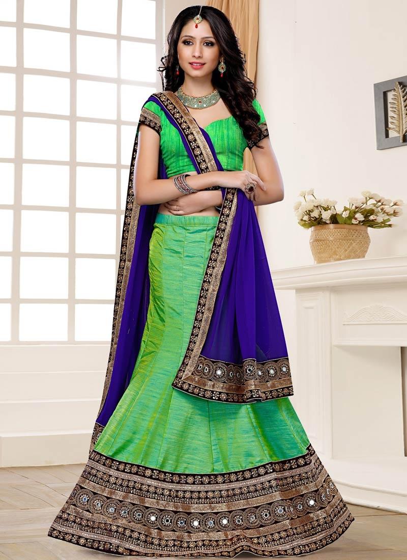 Delightsome Mint Green Color Designer Lehenga Choli
