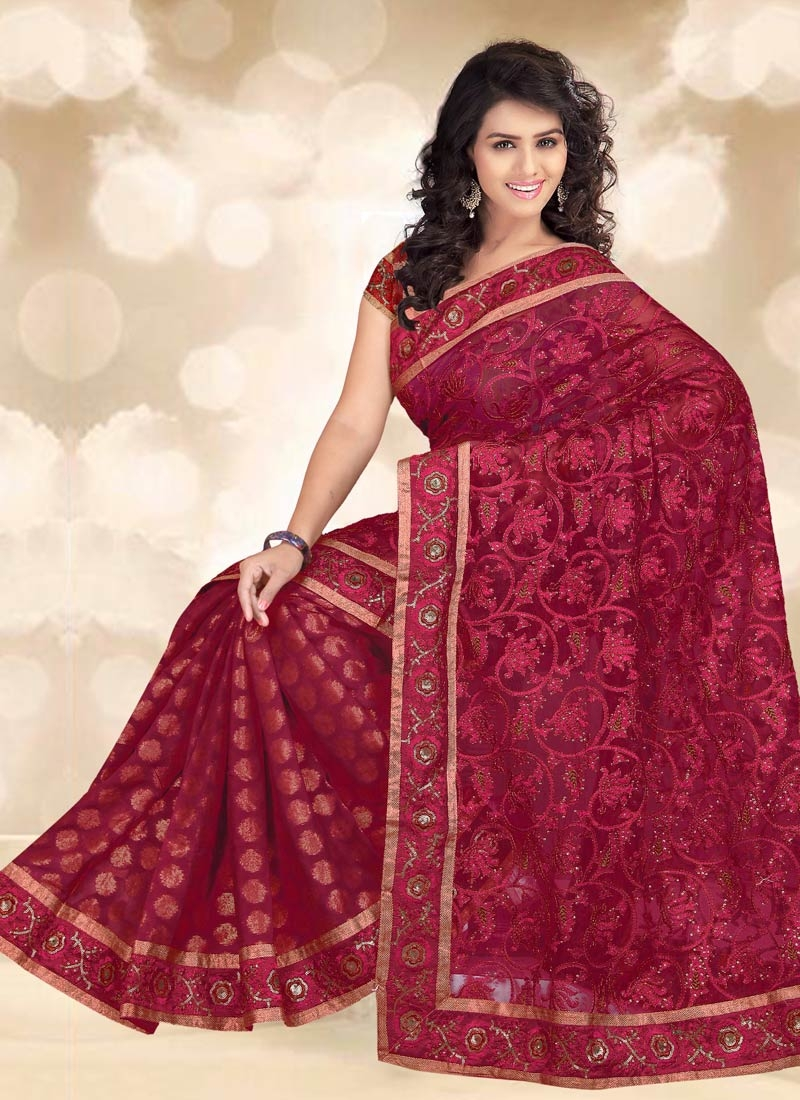 Delightsome Net And Viscose Party Wear Saree