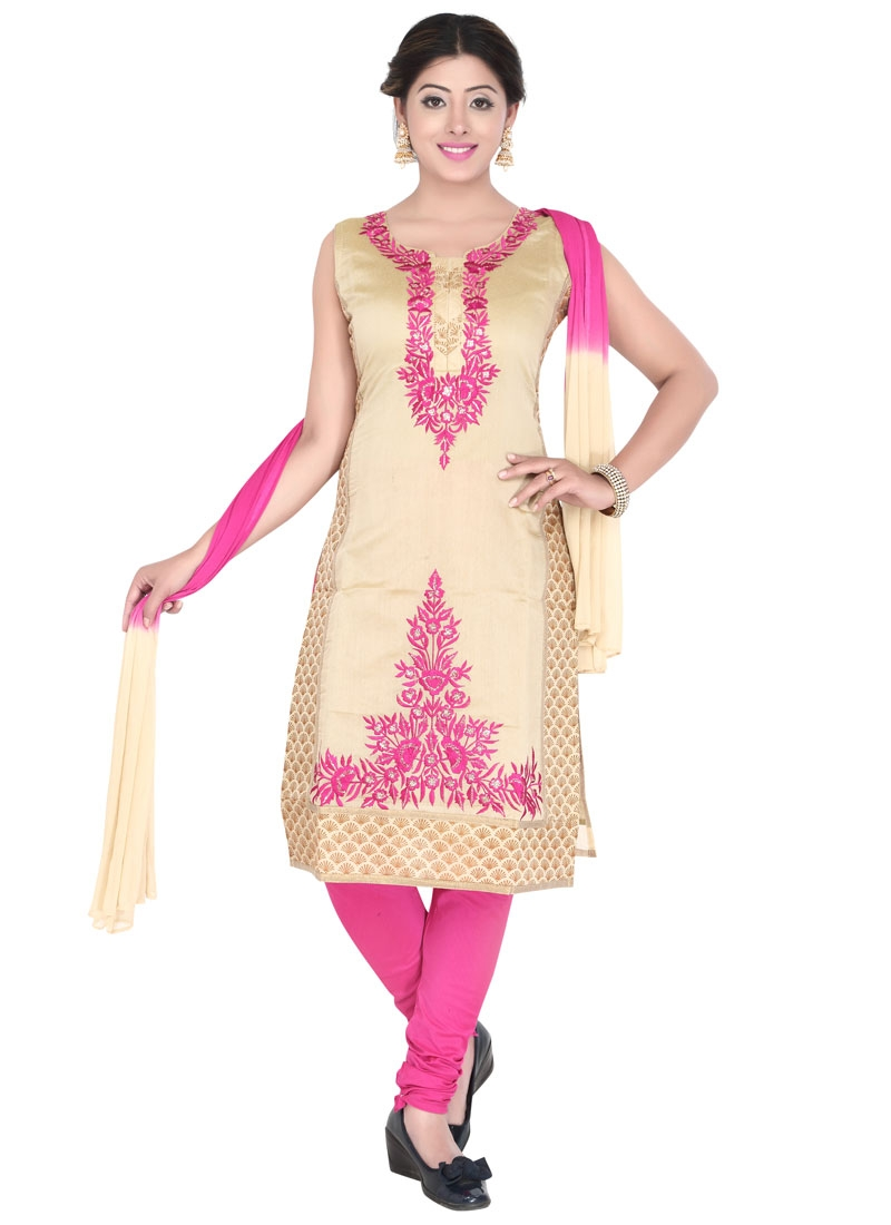 Delightsome Resham Work Party Wear Readymade Salwar Kameez