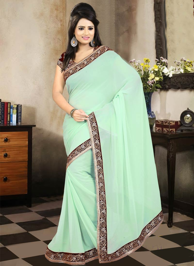 Delightsome Resham Work Party Wear Saree