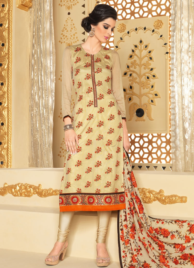 Delightsome Resham Work Straight Party Wear Suit