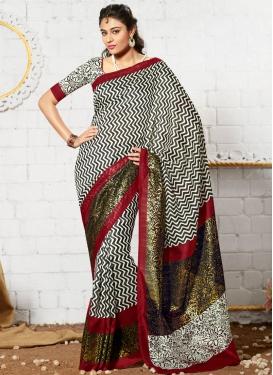 Demure Art Silk Casual Saree