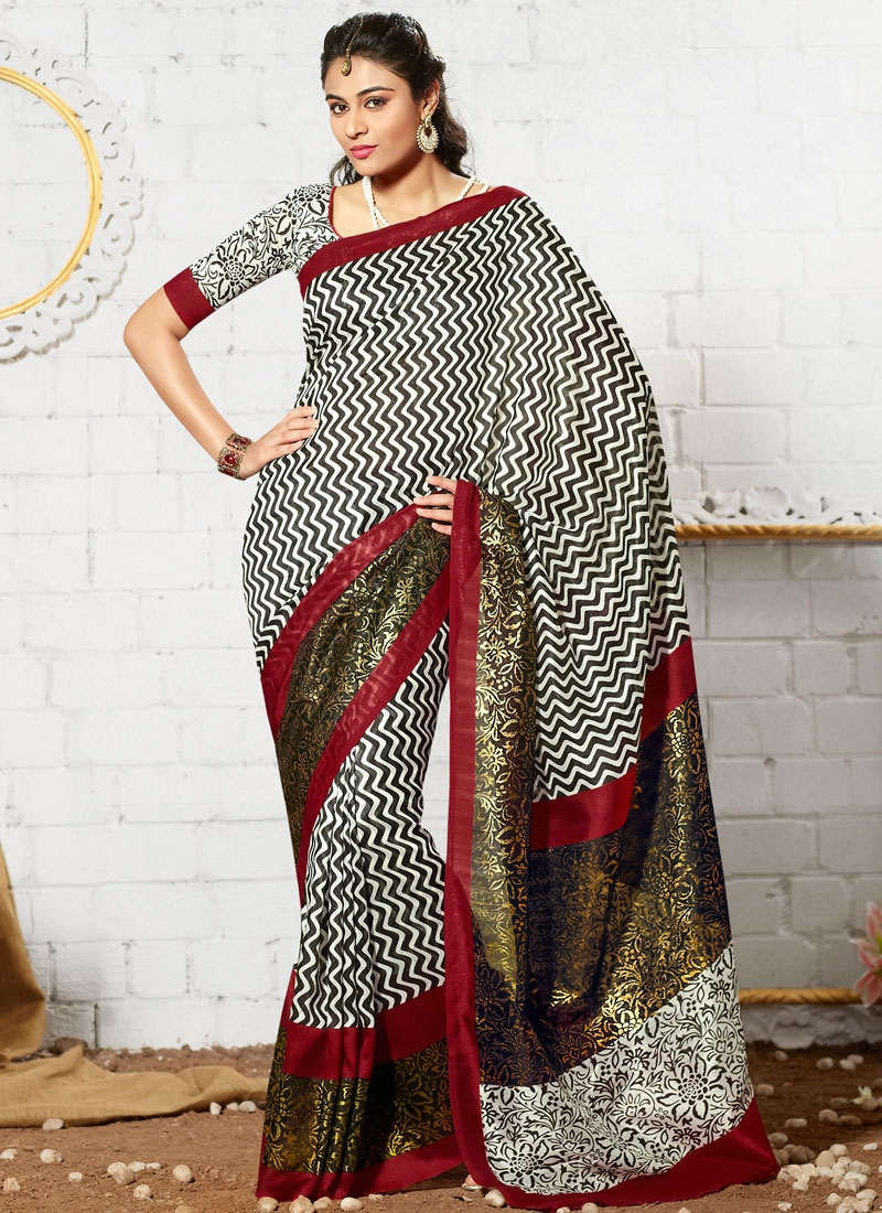 Demure Art Silk Casual Saree