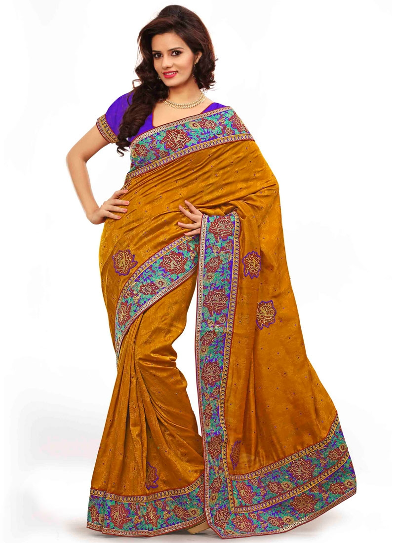 Demure Booti And Resham Work Designer Saree