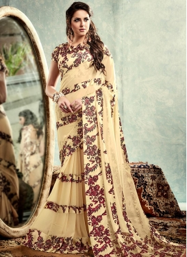 Demure Digital Print Work  Contemporary Saree
