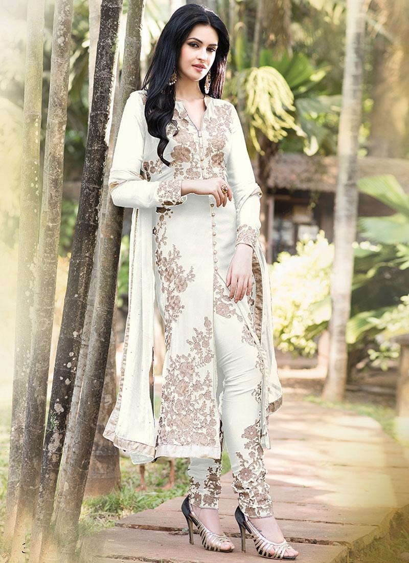 Demure Faux Georgette Designer Salwar Suit