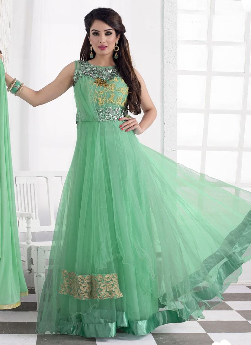 Demure Sequins Work Net Designer Salwar Suit