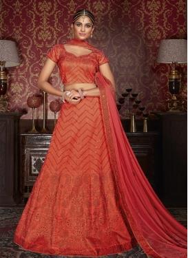 Demure Silk Trendy Lehenga Choli