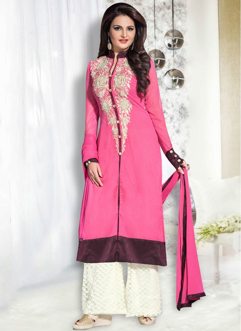 Deserving Beads Work Palazzo Style Party Wear Suit