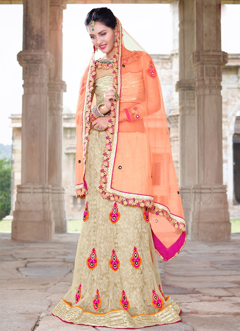 Deserving Booti And Sequins Work Party Wear Lehenga Choli