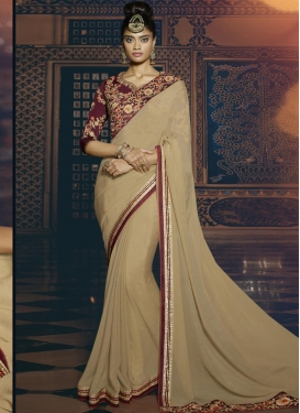 Deserving  Embroidered Work Traditional Saree