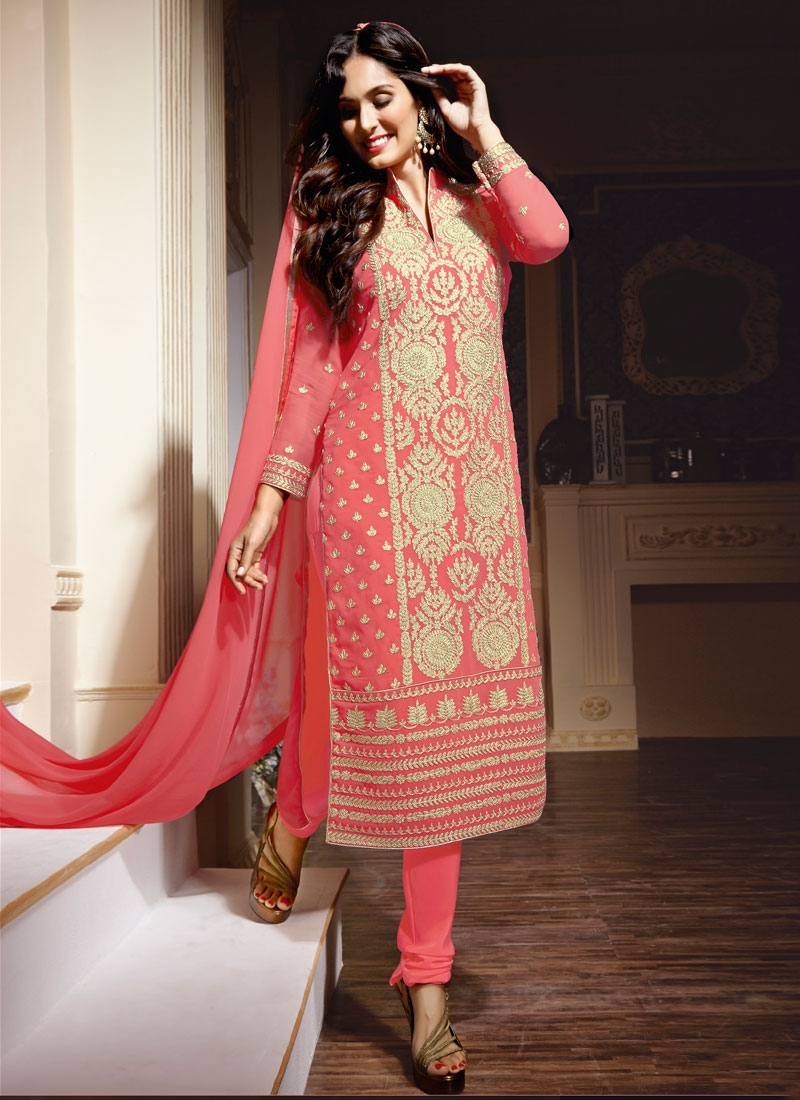 Deserving Embroidery Work Pakistani Salwar Kameez