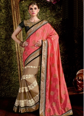 Deserving Half N Half Saree For Festival