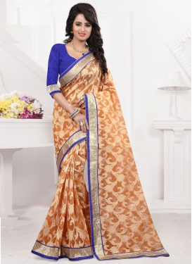 Deserving Lace Work Jacquard Party Wear Saree