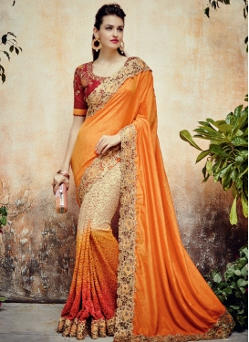Deserving Net Designer Half N Half Saree