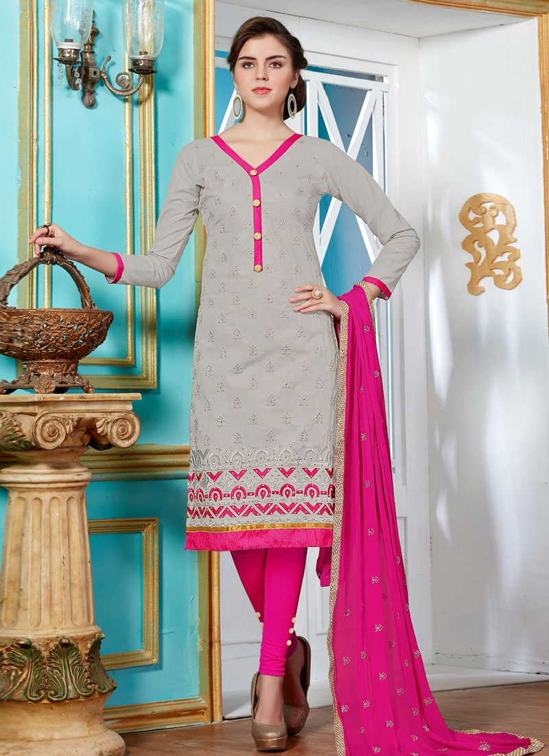Deserving Resham And Lace Work Casual Salwar Kameez