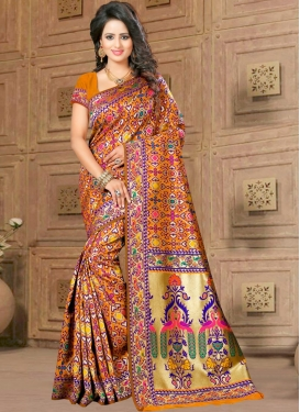 Deserving  Resham Work Classic Saree