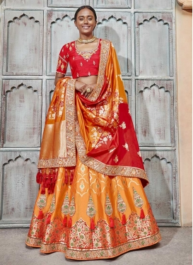 Designer A Line Lehenga Choli For Bridal