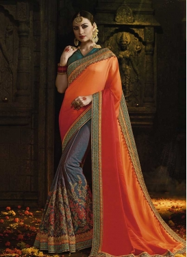 Designer Half N Half Saree For Bridal