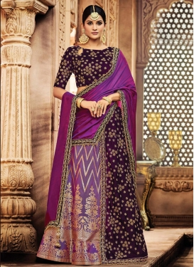 Designer Lehenga Style Saree For Bridal