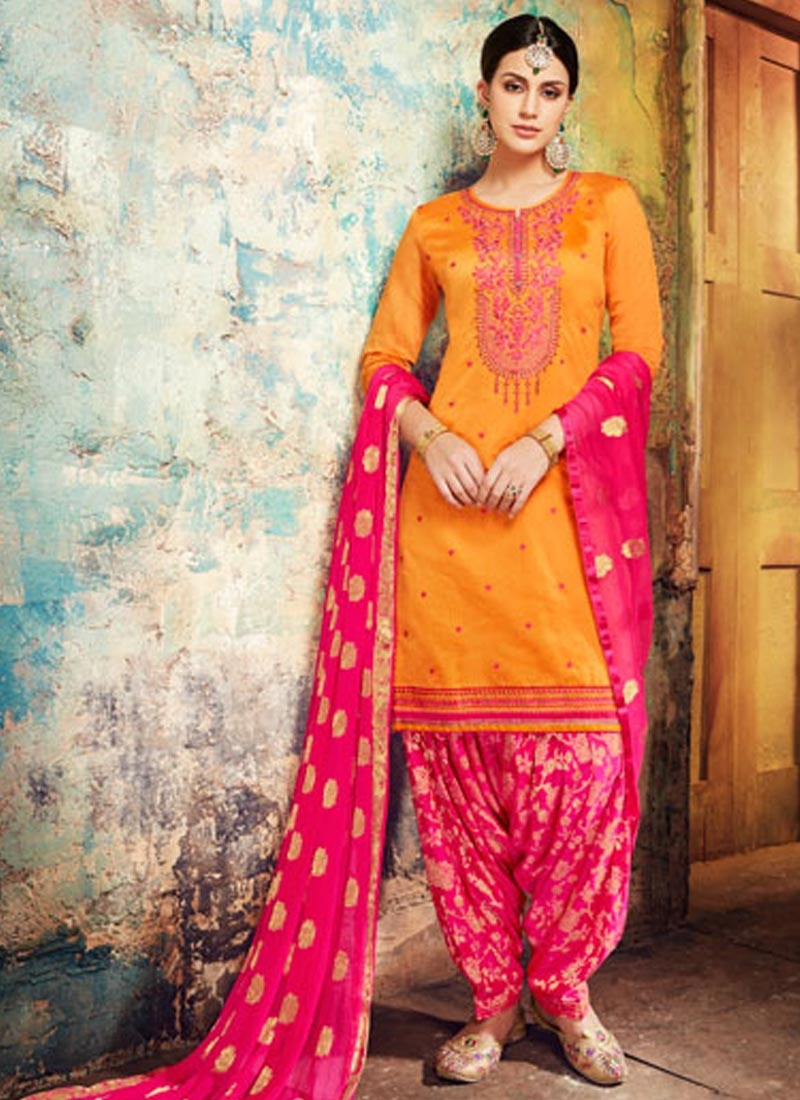 4a28157e7c Buy Designer Semi Patiala Salwar Suit For Ceremonial Online