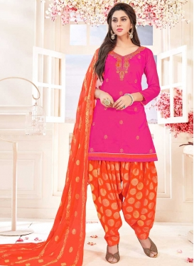 Designer Semi Patiala Salwar Suit For Festival