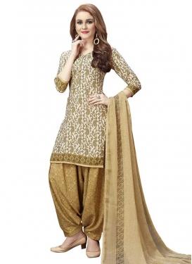 Designer Semi Patiala Suit For Casual