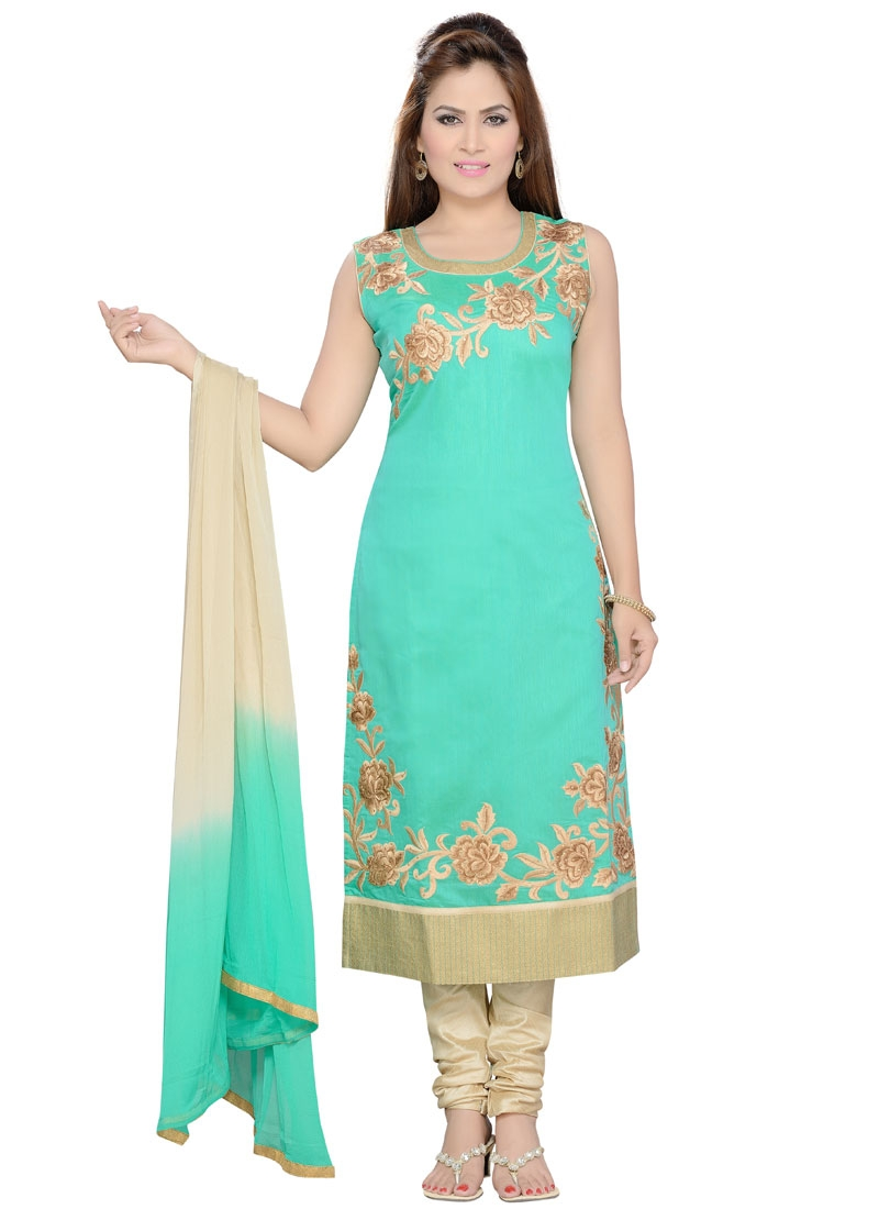 Desirable Art Silk Party Wear Readymade Salwar Kameez