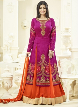 Desirable Ayesha Takia Embroidered Work Designer Kameez Style Lehenga