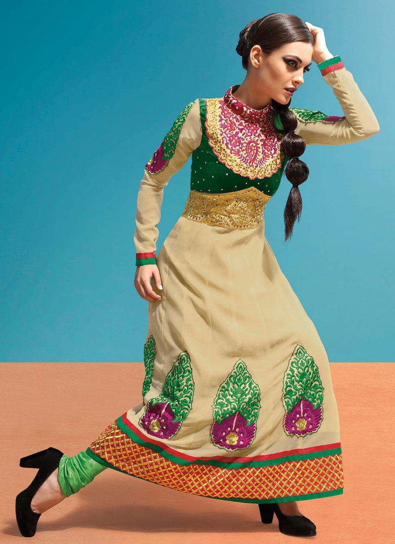 Desirable Booti Work Anarkali Salwar Kameez