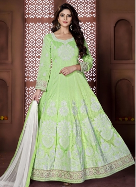 Desirable  Booti Work Long Length Anarkali Salwar Suit