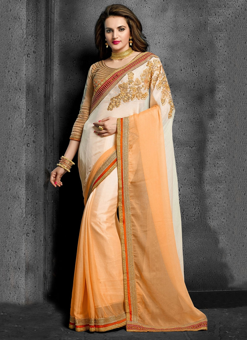 Desirable Embroidery Work Designer Saree