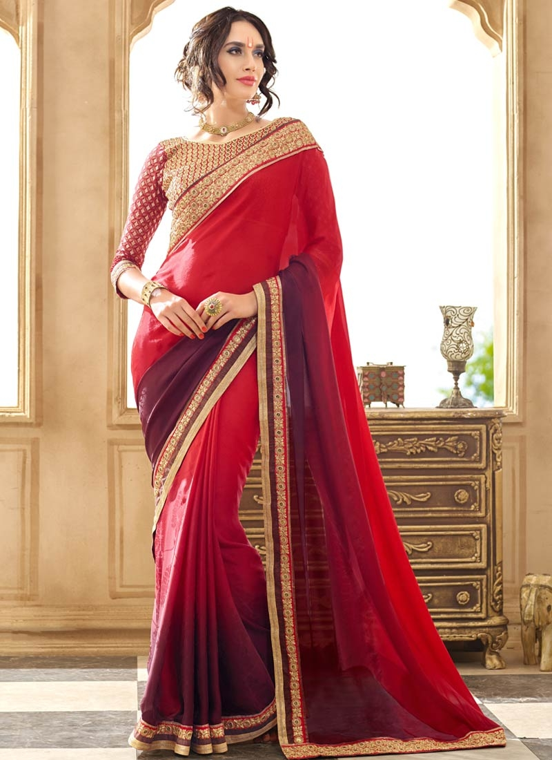 Desirable Lace Work Jacquard Party Wear Saree