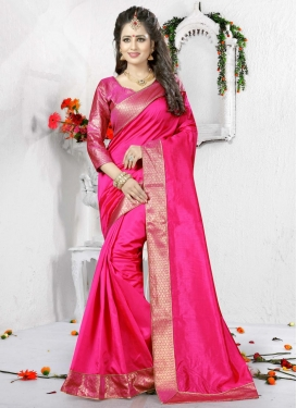 Desirable  Lace Work Trendy Saree
