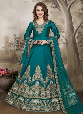 Desirable Long Length Anarkali Suit For Festival