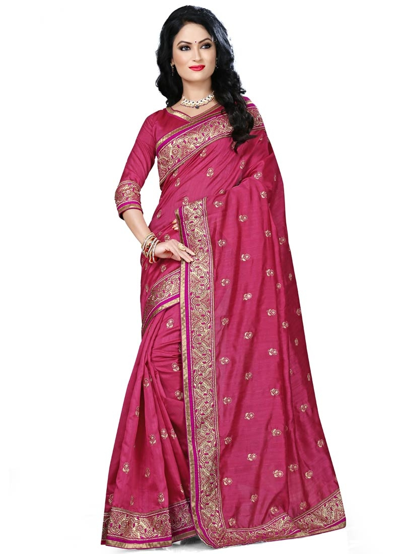Desirable Resham And Lace Work Party Wear Saree