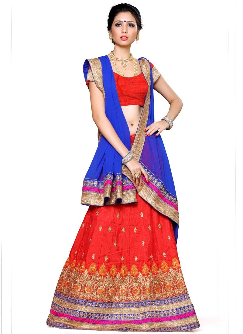 Desirable Resham And  Stone Work Silk Designer Lehenga Choli