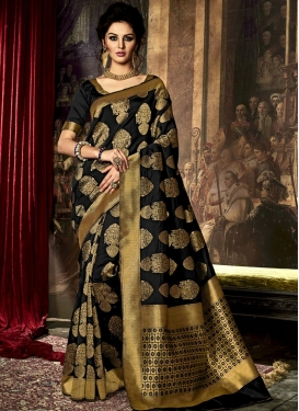 Desirable Resham Work Trendy Saree