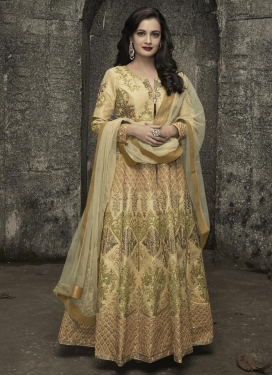 Dia Mirza Art Silk Trendy Kalidar Suit