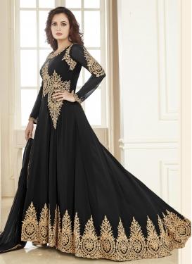 Dia Mirza Booti Work Faux Georgette Trendy Designer Salwar Kameez