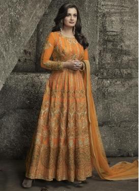 Dia Mirza Embroidered Work Floor Length Kalidar Salwar Suit