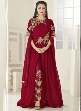 Dia Mirza Faux Georgette Pant Style Designer Salwar Kameez
