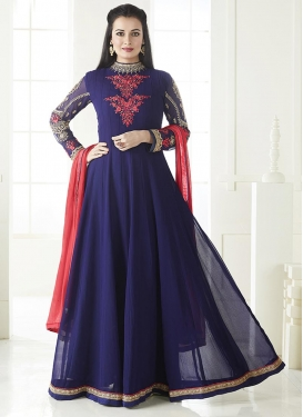 Dia Mirza Floor Length Anarkali Salwar Suit For Festival