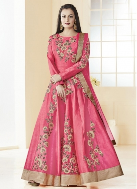 Dia Mirza Long Length Anarkali Salwar Suit
