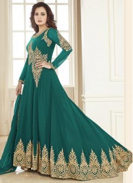 Dia Mirza Long Length Anarkali Salwar Suit For Ceremonial
