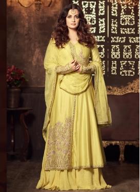 Dia Mirza Pure Georgette Kameez Style Lehenga Choli