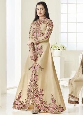 Dia Mirza Tafeta Silk Embroidered Work Designer Salwar Kameez