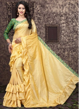 Digital Print Work Art Silk Designer Contemporary Style Saree