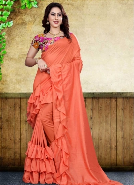 Digital Print Work Art Silk Trendy Designer Saree